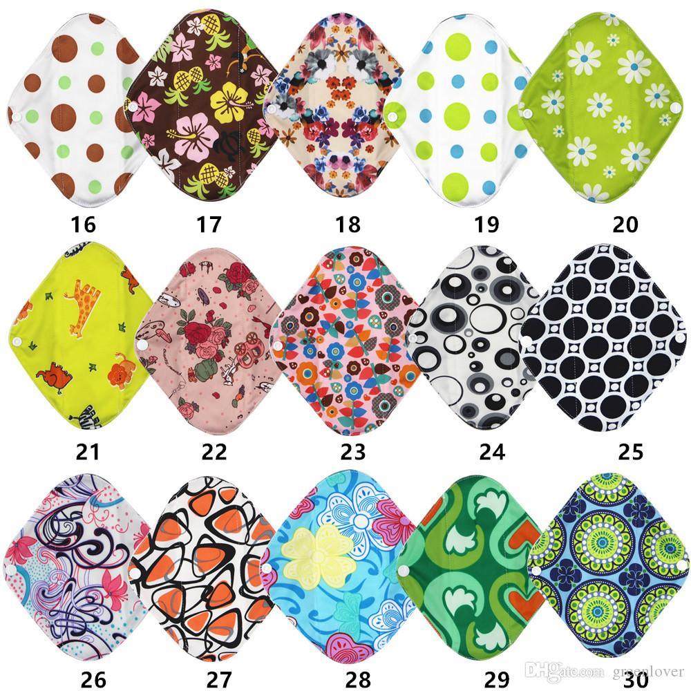 OEM   Mélangez 9 morceaux de tissu de maman de bambou de charbon de bois de flux de 12 pouces lourd / tampons menstruels / tampons hygiéniques réutilisables - Mélangez le match
