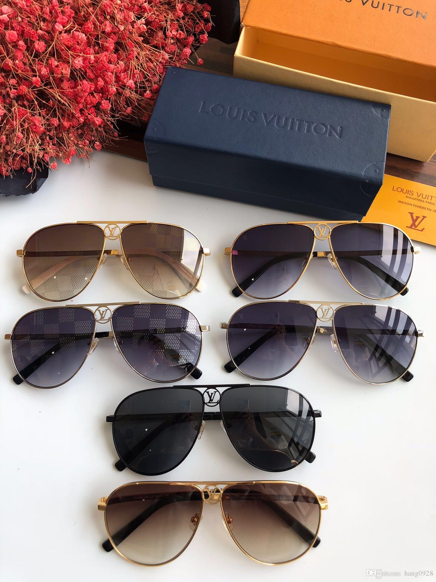1f9fcf4d4 2019 Mais Novo Luxo Maior qualidade óculos de sol dos homens da moda Top  designer de ...