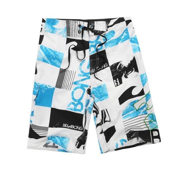 New Mens Shorts Surf Board Shorts Summer Sport Beach Homme Bermuda Short Pants Quick Dry Silver Boardshorts Slim