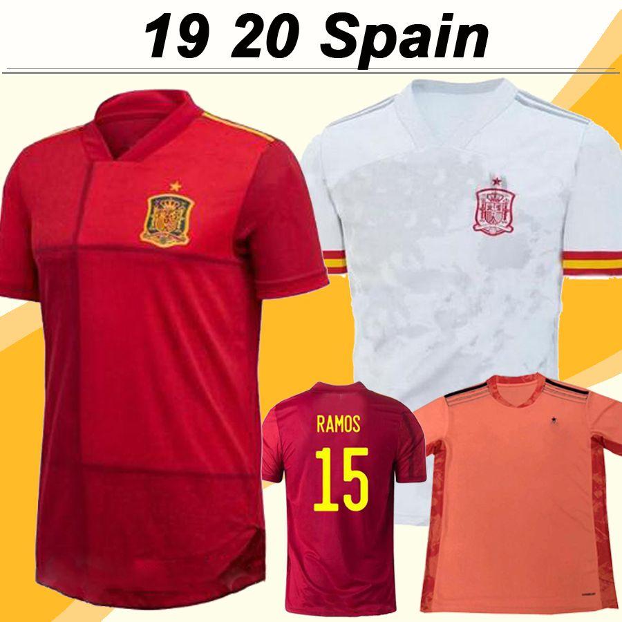 2019 A. INIESTA Fußball-Trikots Mens ISCO DIEGO COSTA Home Away Trikots Spanien ASENSIO PIQUE Fußball-Hemden T-Shirt de fútbol Uniformen