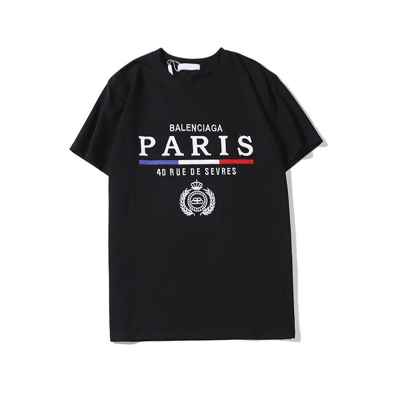 T-shirt Nouveau coton T-shirt col rond de mode simple lettre T-shirt à manches courtes hommes d'été étiquette été perméable à l'air de S-XXL