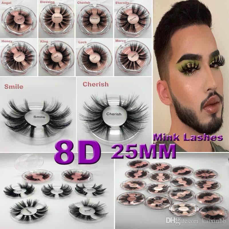 Nouvelle arrivée 100% Supernatural Lifelike faux cils à la main 25mm 3D cils de vison épais faux faux cils maquillage beauté