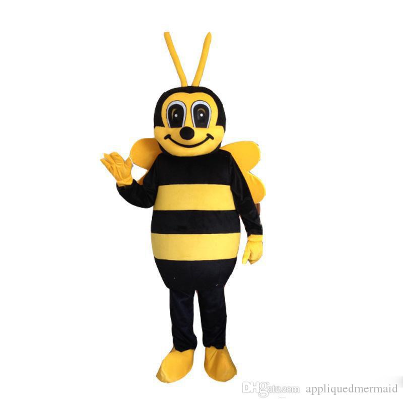 Envoyer gratuitement! De grande qualité Costume De Mascotte Abeille Abeille Costume