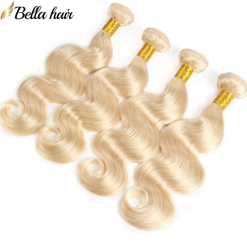 100% de Malasia humano de la Virgen de la armadura del pelo rubio # 613 lotes de doble onda del cuerpo de la trama del pelo Extesnsion Bella Cabello