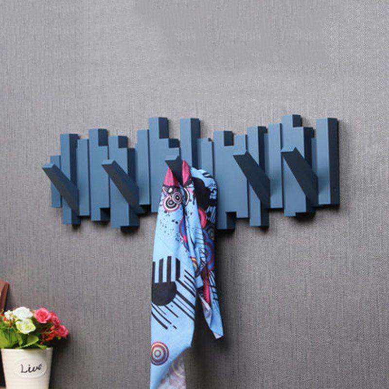 Kostenlose Punch Nagel Mantel Rack Haken Kreative Mantel Haken Kleidung Lager Wand Rack Wandregale