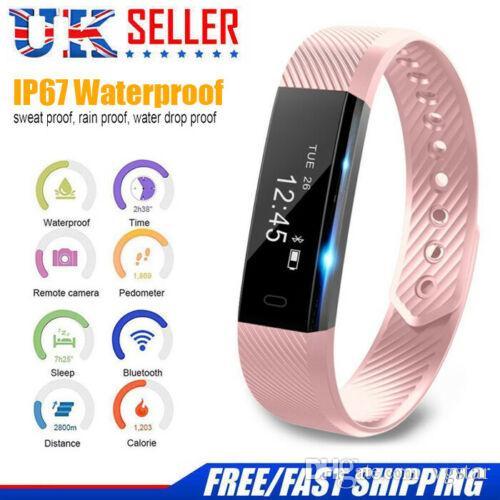 Bluetooth Smart attività Sala fitness vigilanza dell'inseguitore Pedometro Wristband Fit-bit di stile con sonno Monitor, sedentario promemoria, Contapassi