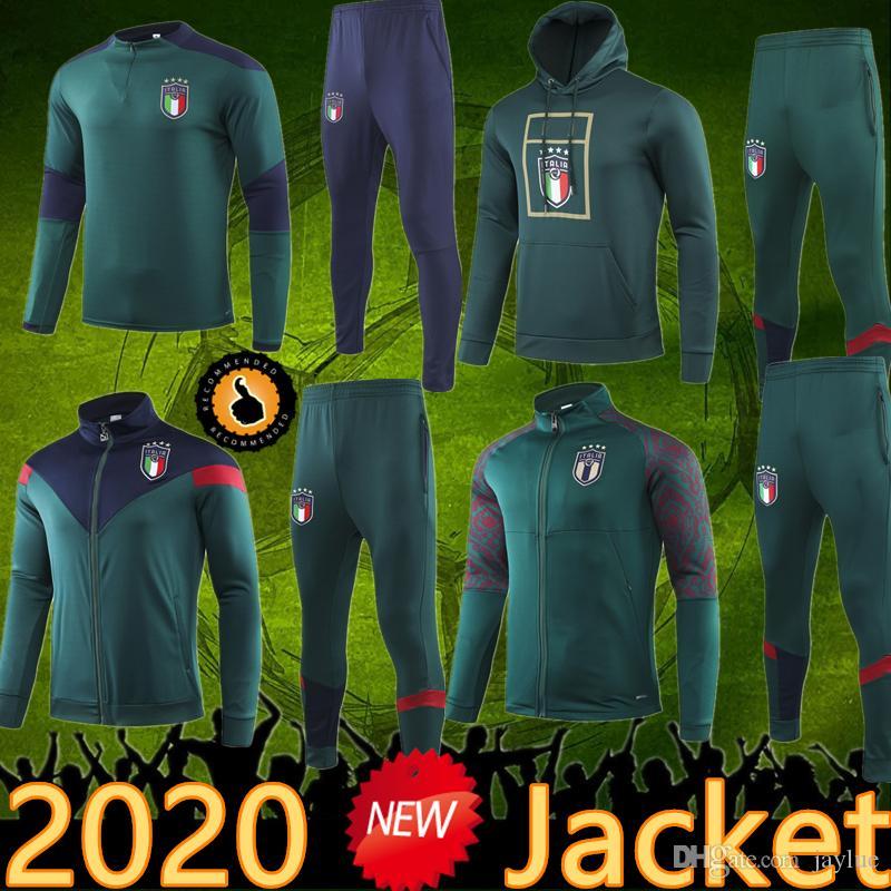 2020 Italie Veste Survêtement costume sport Futbol Camisa Totti Pirlo Del Piero Maillots Insigne Football Football Italia Camiseta