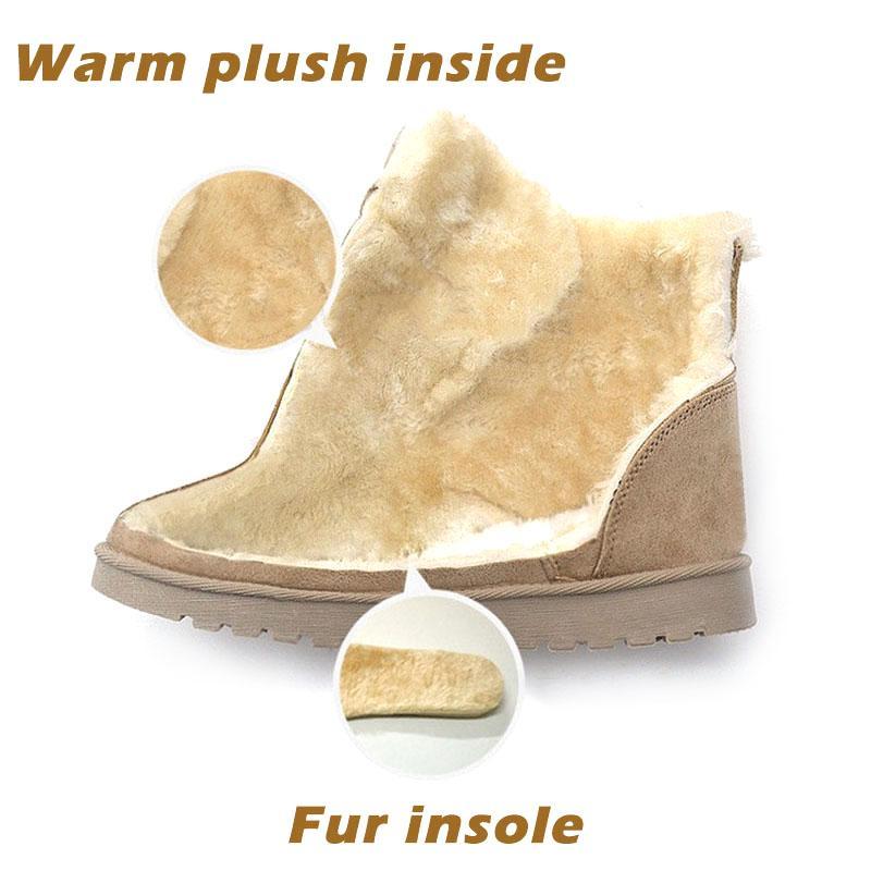 Yeni Bilek Boots For Women Kış Boots Peluş Sıcak Kar Bot
