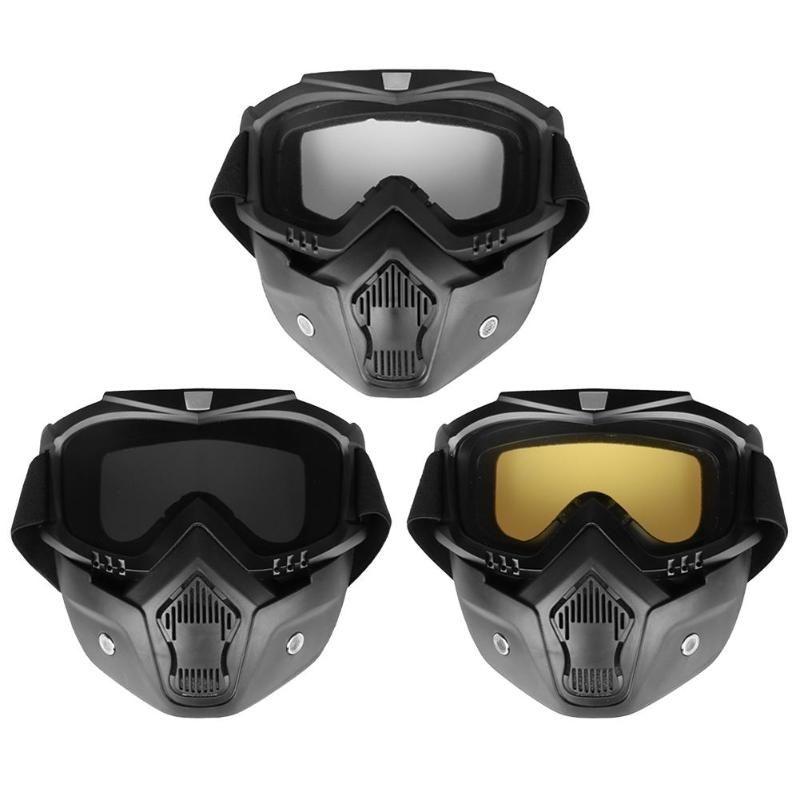 Outdoor Motorrad Maske abnehmbare Schutzbrille Motorradbrille für Open Face Motorradhalbhelm