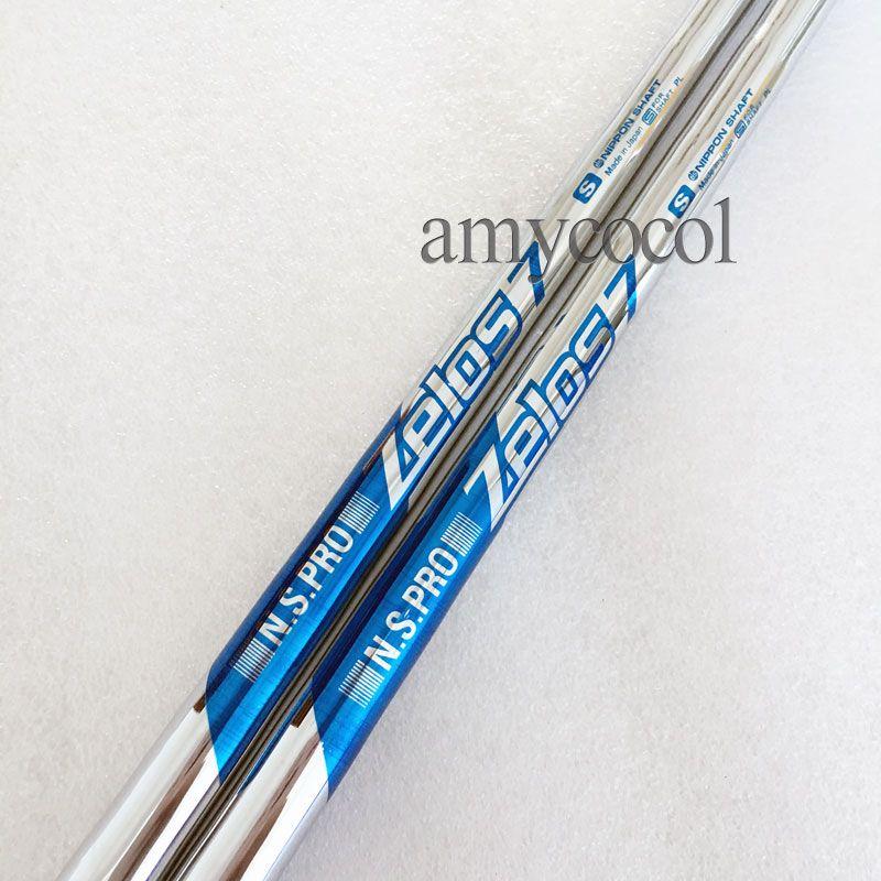 9pcs / lot Neuer Golfwellenadapter Golfclubs N S S Pro Zelos 7 Stahlwelle kombinierte Bügeleisen Rod Clubs Wellentechnologie Kostenloser Versand