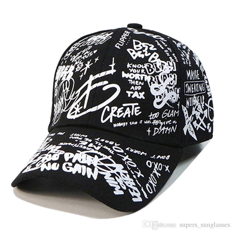 Mens Letter Printed Adjustable Strap Hip Hop Hat Outdoor Skateboard Baseball Cap