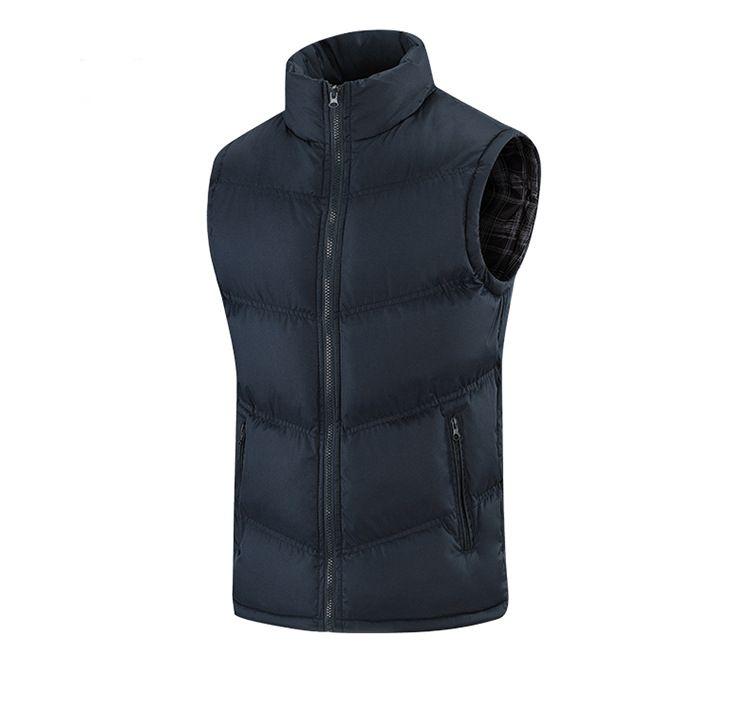 Down-Baumwolle Größe Weste Männer der Art und Weise Kragen Kragen sleeveless Weste verdickt Weste Herren-Jacke dick, warm, bequem Beliebte Stil