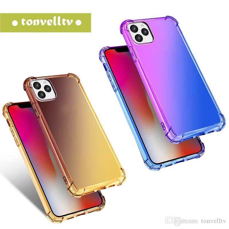 Arc-en-cas en silicone pour iPhone 11 Pro 2019 XR souple Slim pour iPhone sur X 10 XS MAX Ultra Thin Retour Phone Cover 2019