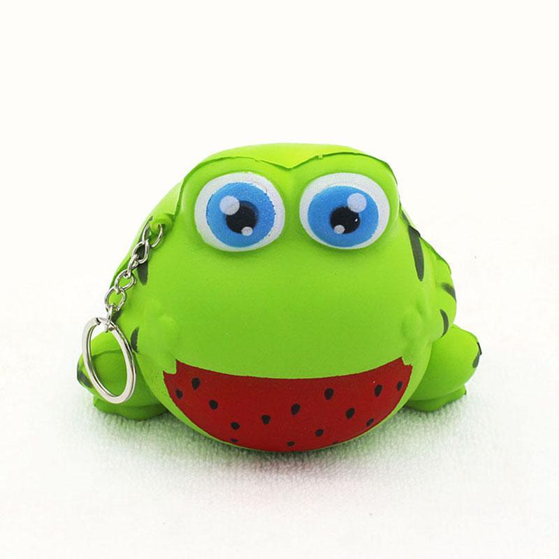 Декомпрессия игрушки PU для больших детей Детская Познание Slow Rebound Squishy Моделирование Frog Soft Мультфильм Зеленый