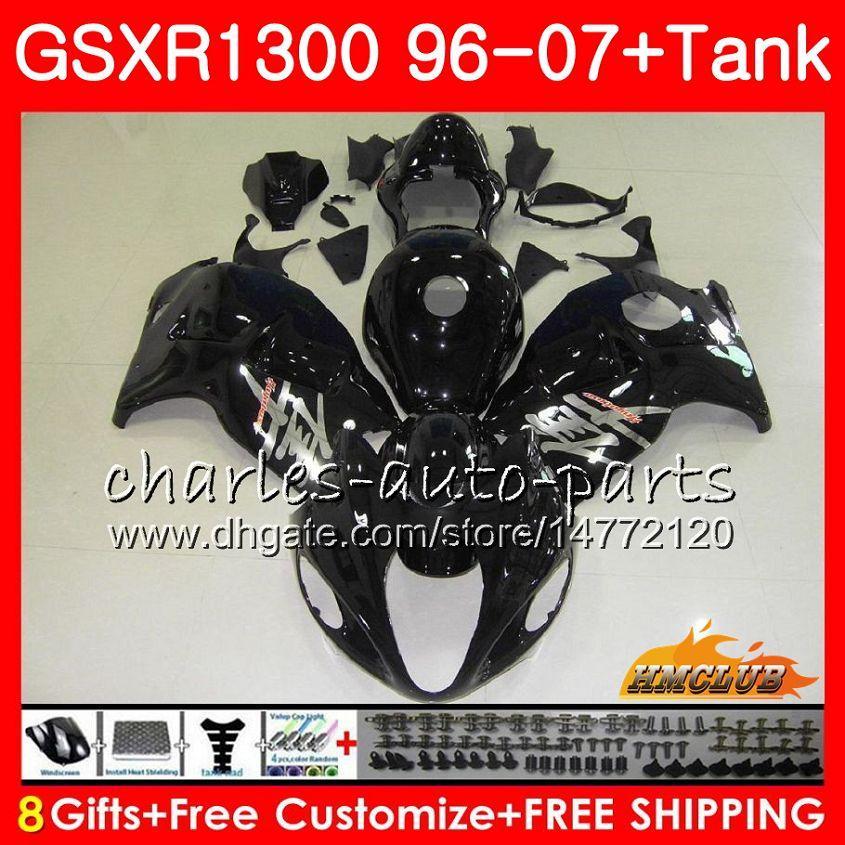 Karosserie für SUZUKI Hayabusa GSXR 1300 schwarz glänzend GSXR1300 96 02 03 04 05 06 07 24HC.18 GSX R1300 1996 2002 2003 2004 2005 2006 2007 Verkleidung