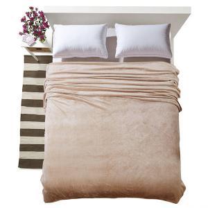 Sommer Dünnschliff Weiche und bequeme reine Farbe Flanelldecke werfen auf Sofa / Bett / Reise Plaids Tagesdecken Blätter