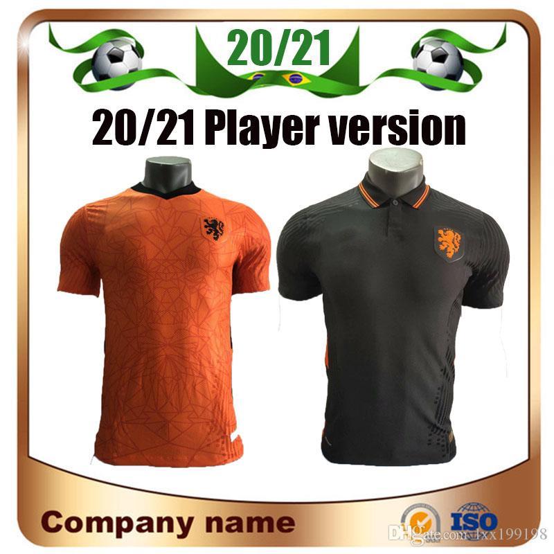 2020 versión del jugador Países Bajos camiseta de fútbol europeo 20/21 Holanda Inicio VIRGIL MEMPHIS Camisetas de fútbol Visitante DE JONG ROBBEN Uniforme de fútbol