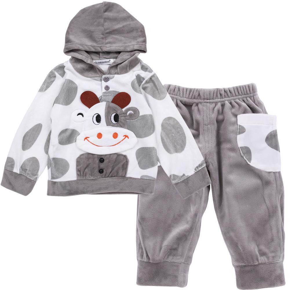 Детская одежда осень зима Baby Boys одежда наборы Детская одежда наборы Baby Girls спортивный костюм футболка + брюки 2 шт. наряд костюм