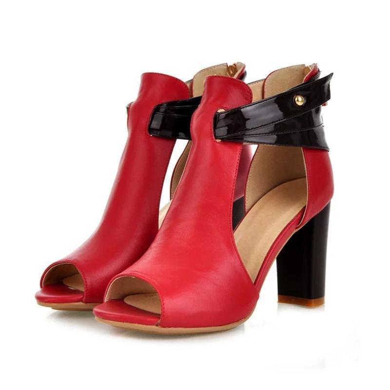 2019 весна новая женская обувь на высоком каблуке сандалии рыбы рот рот большой размер высокие каблуки