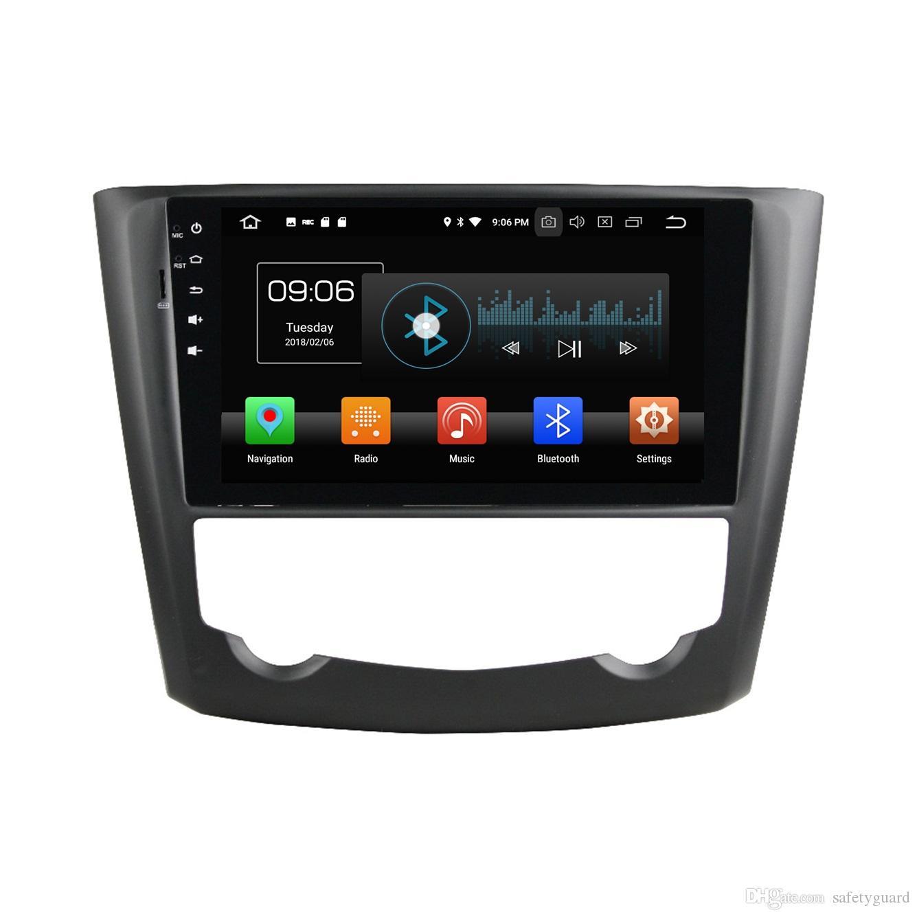 """1024 * 600 4GB + 64GB 옥타 코어 1 인치 9 """"안드로이드 8.0 자동차 DVD 스테레오 라디오 GPS Renault Kadjar 2015 2016 WIFI 블루투스 USB 미러 링크"""
