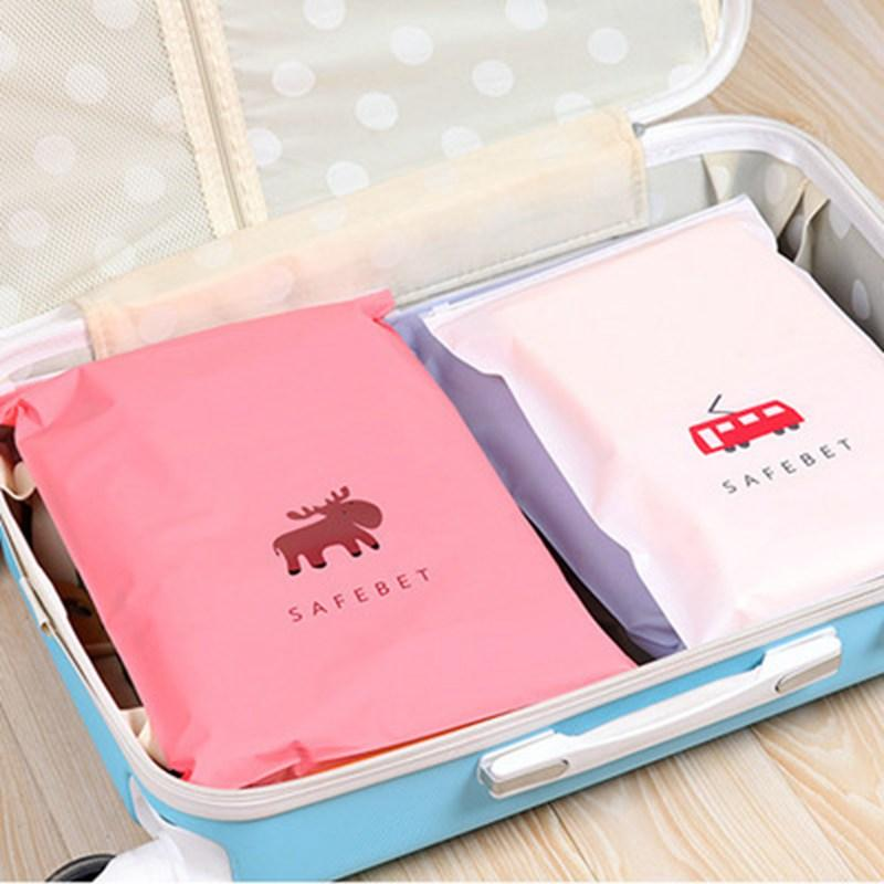 Small Elk Cosmetic Bag Travel Storage Bag Zipper Pouch Portable Waterproof Shoes Clothing Closet Underwear Sorting Wash Box