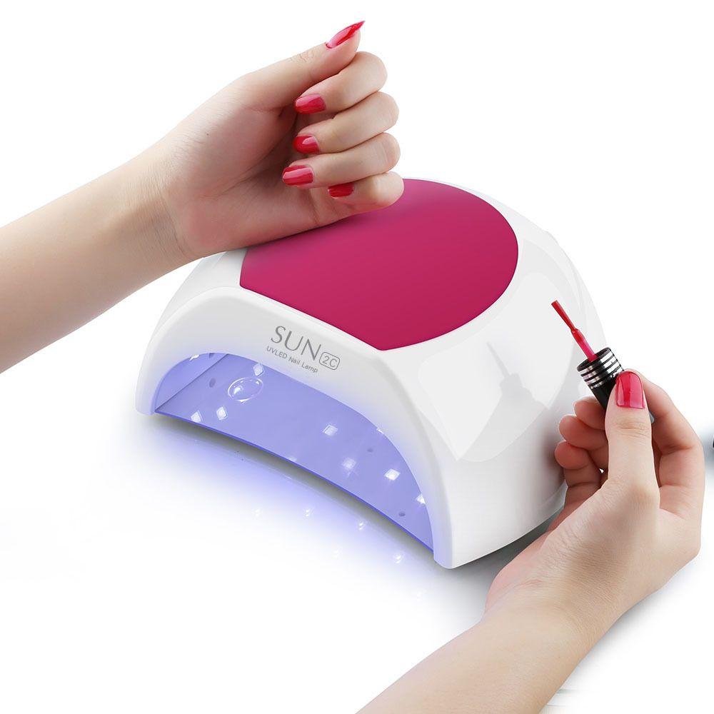 Hot Sun 2c Lámpara LED para clavos Lámpara ultravioleta 48w / 80w Sunuv es adecuado para todos los gel 33 cuentas Led pantalla Secador de uñas Inducción automática SH190726
