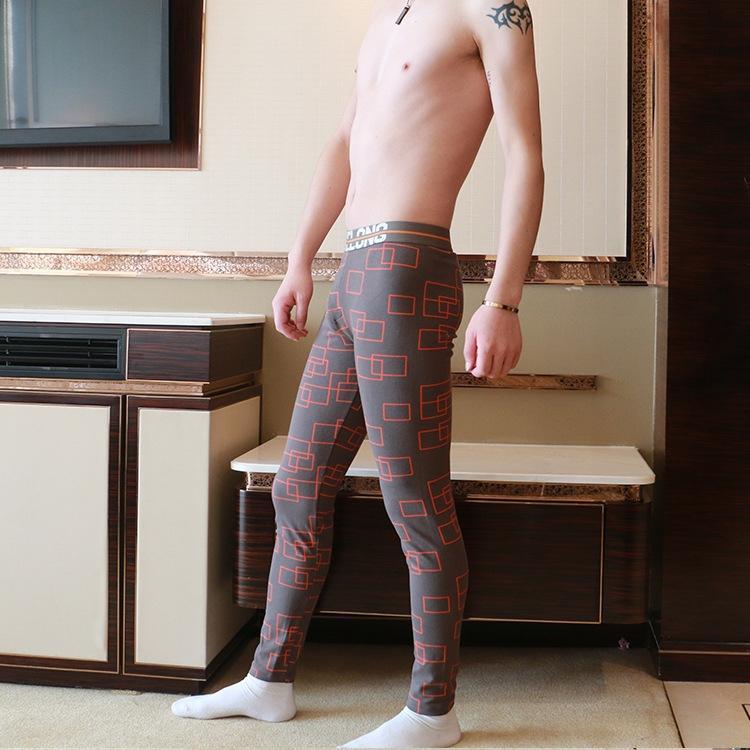 Tous les pantalons chauds automne serrés pantalon chaud hommes en coton imprimé le A0978 de pantalon en coton stretch à carreaux