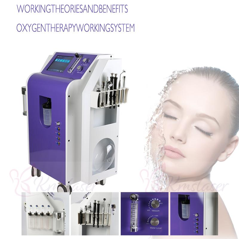 New 7 in 1 Multifunctional hydro dermabrasion beauty machinewith aerosol can oxygen mask for facial care