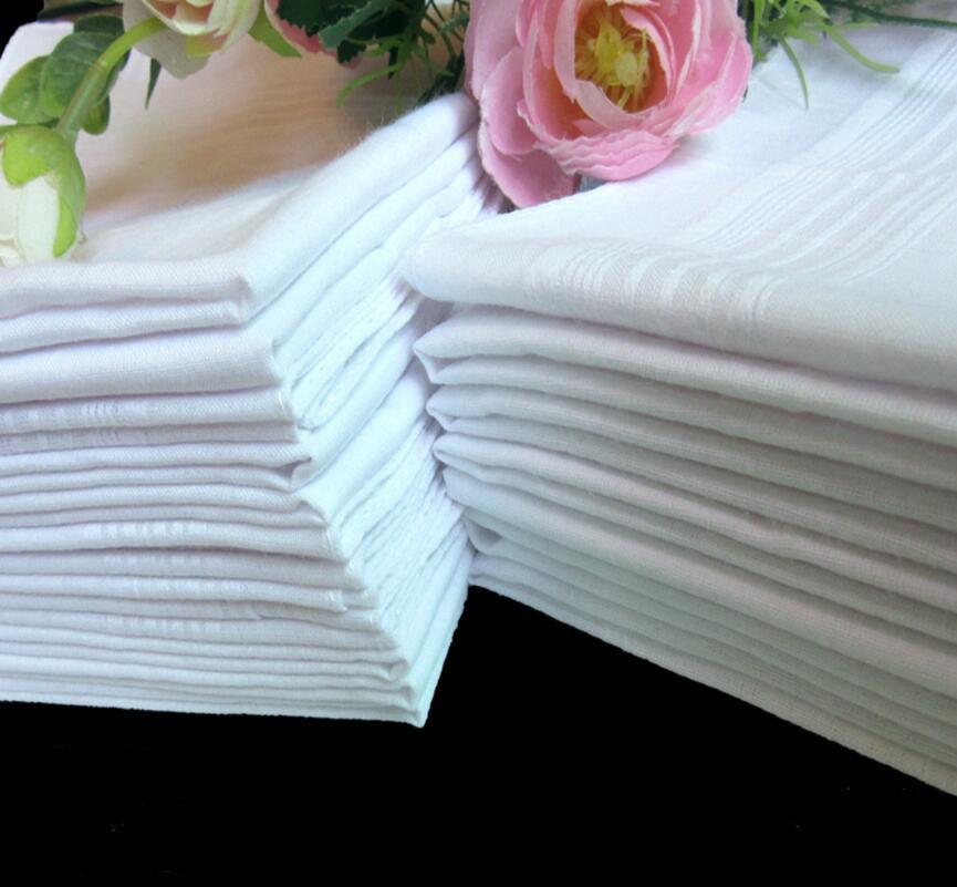 GRATIS DHL Handkerchief White Table 100% Whitest Masculino Hankerchiefs Satin Handkerchief Traje Townboats Mens Pocket Square Cotton Pure LSF33 TFTS