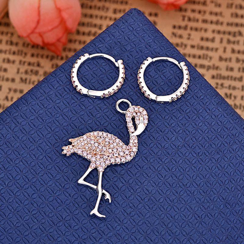 العلامة التجارية الجديدة النحاس مطلي الذهب والمجوهرات مجوهرات أقراط الطيور المشتعلة للسيدات هدية المجوهرات