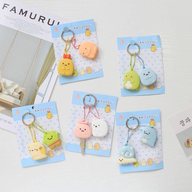 COSANER Sumikko Gurashi Anime Keychain PVC anneau chaîne décoration unisexe ornement pendentif clé porte-clés de couverture Cadeaux