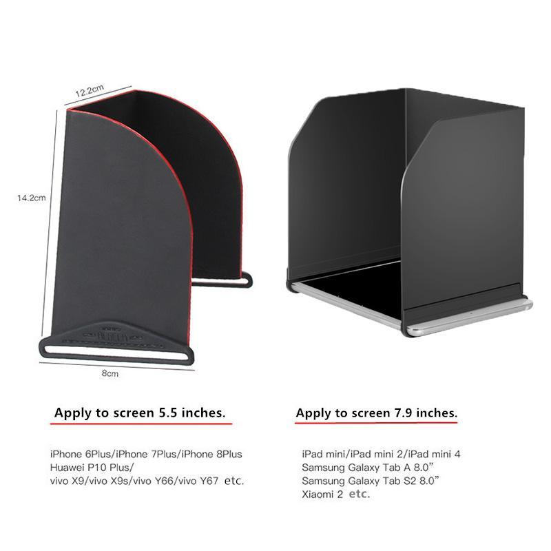 Prop pas cher Protector 5.5 pouces / 7,9 pouces Télécommande téléphone Sun capot Pare-soleil pour Tablet DJI mini Mavic / pro 1