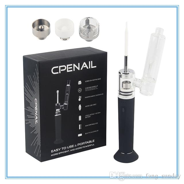 Original CPENAIL Dab Wax Vaporizer Pen Starter Kit 1100mAh Battery Quartz H Nail Ceramic Dabber Rig Titanium Portable Electric Glass Bongs