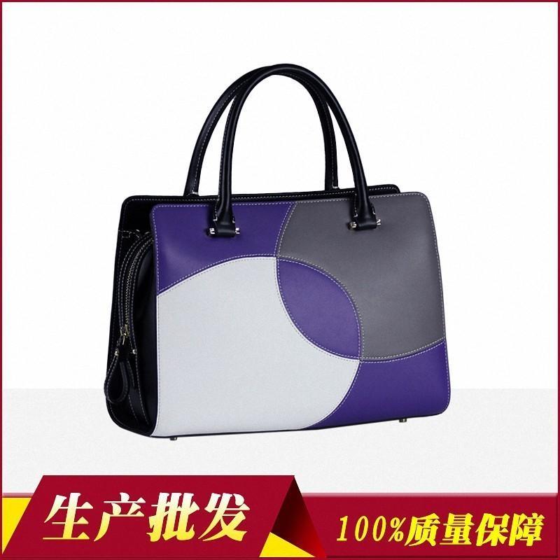 Charm2019 Occasione formale Affari Borsa a mano Shenzhen Collocation Originalità Split Joint Vera pelle pacchetto donna