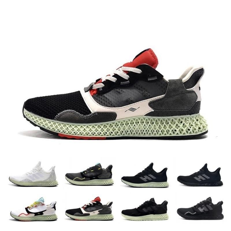 New Sale Hender Scheme Soft Ash Green Mens Zx 4000 Futurecraft 4d Running Shoes Trainers For Men Zx4000 Carbon Male Sports Trainer Sneakers