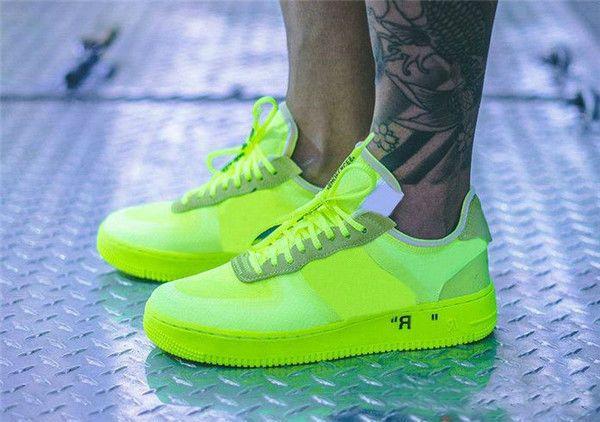 Acheter OFF White X Nike Air Force 1 Vente Chaude Force One Bas Chaussures De Course Supérieur Hommes Femmes Édition Limitée De Mode Designer Casual