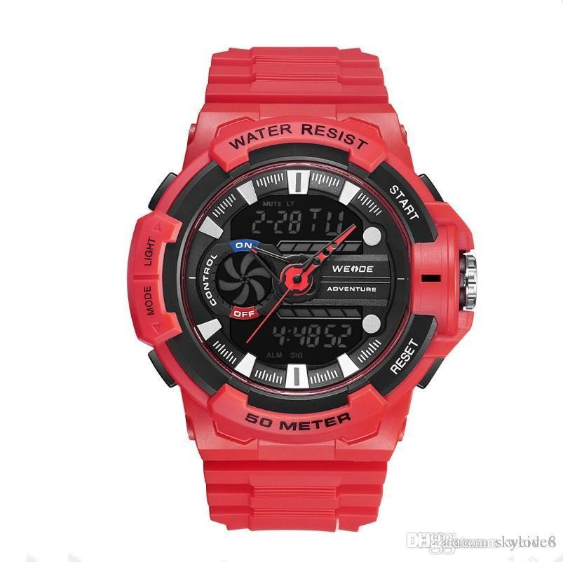 WEIDE-WA3J8009 Fashion Brand Sport Military Digital Watch Men 5 ATM Waterproof Wristwatch High Quality Wholesale Men Watches