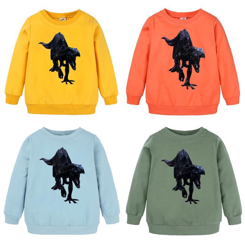 print dinosaure nouveaux enfants garçons et filles Sweat-shirt Sequin T-shirt de mode T-shirts bébé T-shirts Vêtements DBT097