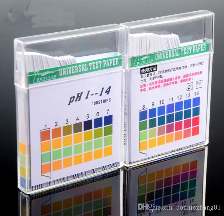 10 Scatole X 100Pcs 0-14 strisce PH cartina di tornasole carta Universale alcaline Indicatore Acido di carta per alimenti Bere Cosmetic Tester PH