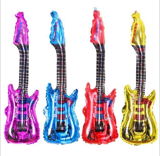 تصميم جديد زينة عيد الميلاد 85 * 30cm والغيتار الهتاف عصا 4 لون منفوخة المعدنية غيتار بالونات هدية حفل زفاف