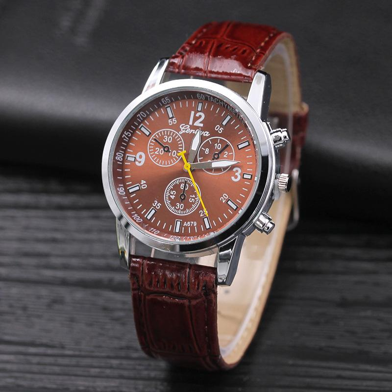 Men Watches Alloy Geneva Fashion roman numerals Three dial Sport Student watch Casual Dress Wristwatches Military Clock
