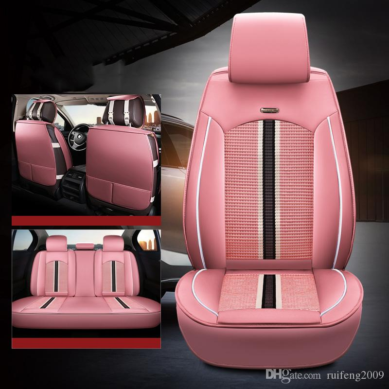 2019 New Luxury PU Leather Auto Universal Car Seat Covers for Fit most car seats Waterproof auto interiors Car accessories
