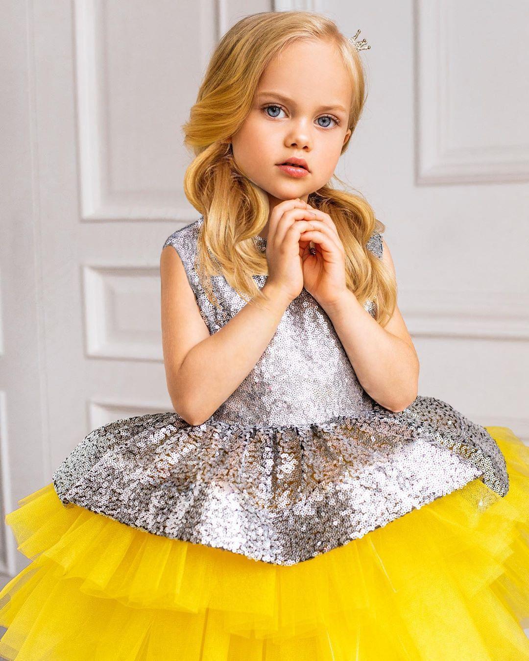 2020 الصيف طفل طفلة اللباس فتاة الموضة البراقة شبكة المرقعة اللباس الأنيق الأطفال عيد ميلاد فساتين كيد حزب 1-6 سنوات قديم