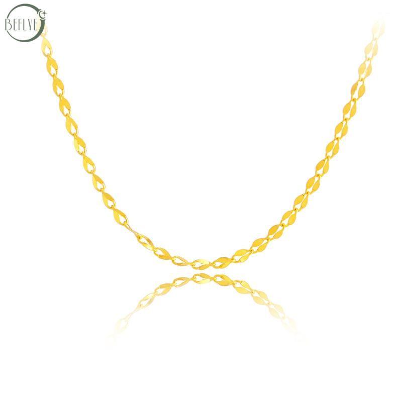 BEFLYE gioielli in oro 18 carati collana AU750 moda labbro oro puro catena di fascino di fascia alta classica festa di boutique di gioielli regalo nuovo 2019