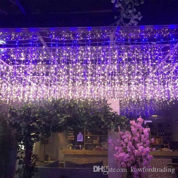 3x3 m led ışıkları led perde peri dize işık peri işık düğün için 300 led Noel ışık ev bahçe parti dekorasyon