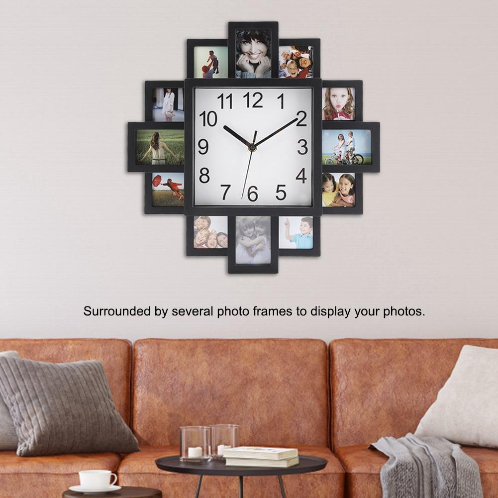 Фоторамка настенные часы 2019 Новый DIY современный Desigh Art Picture Clock гостиная Home Decor Horloge Y200109