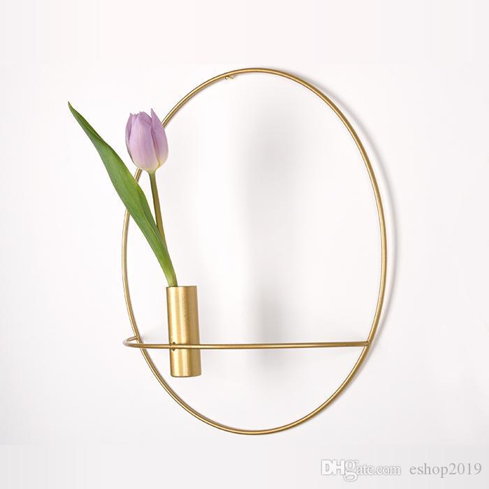 Titular de flor de pared Candelabro Nordic Metal moderno aplique Candelabros Inicio Adornos elegante de la boda decoración de la Navidad