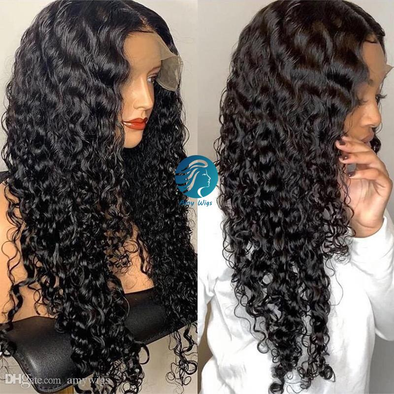 Pre Plucked Hairline Black Spiral Curl Full Lace Wigs Invisable Bleached Knots Women Remy Peruvian Gluleless Lace Front Human Hair Wigs