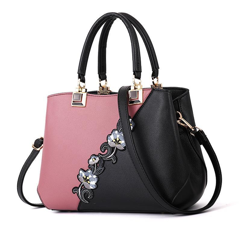 Bolsos portátiles ocasional simple del monedero del bolso elegante generoso tendencia temperamento cómodo personalidad salvaje Shouler bolsa de color rosa Bolsas