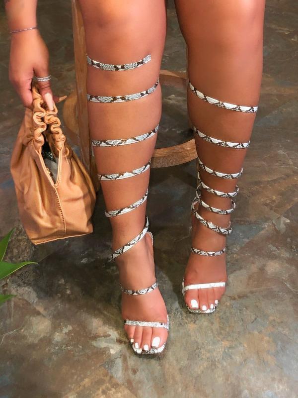 Summer 2020 designer strappy high-heeled Sandals lll